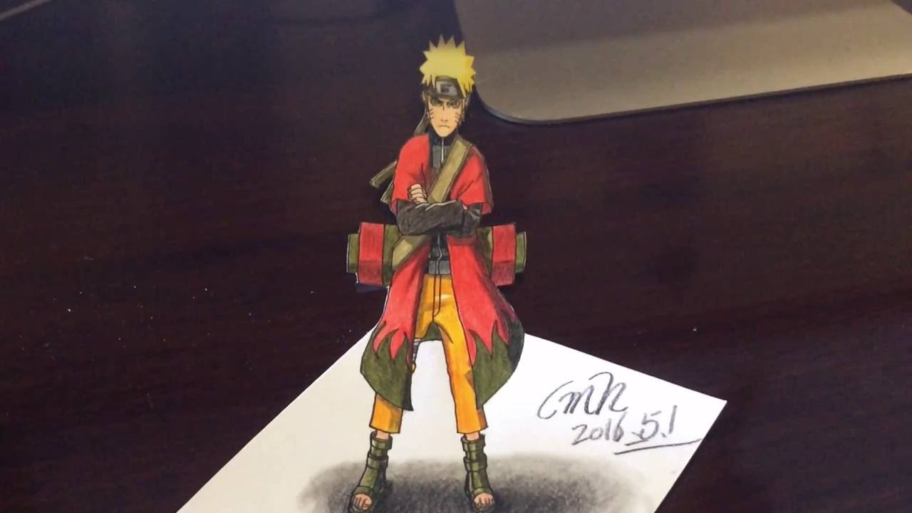 No 10 speed drawing 3d naruto cmh 3d drawing youtube
