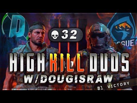 CoD Blackout | 32 KILLS Duos Win w/ DougisRaw