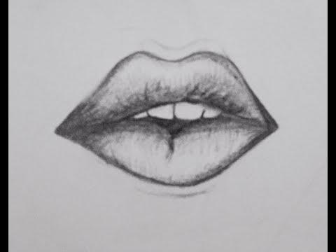 Kolay Dudak Nasil çizilir How To Draw Realistic Lips Youtube