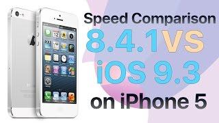 iPhone 5 iOS 8.4.1 vs iOS 9.3 Final Version Speed Comparison Build 13E233 and 13E237