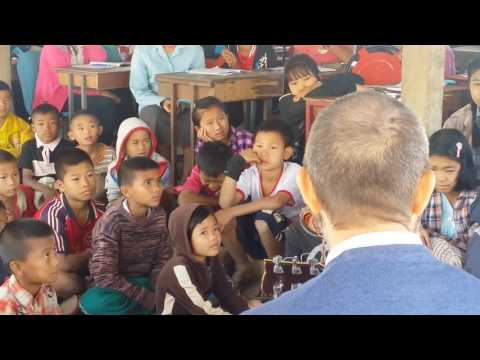 Burma Refugee Music School _ at New Blood School in Maesot ,2014 song by park ju hee