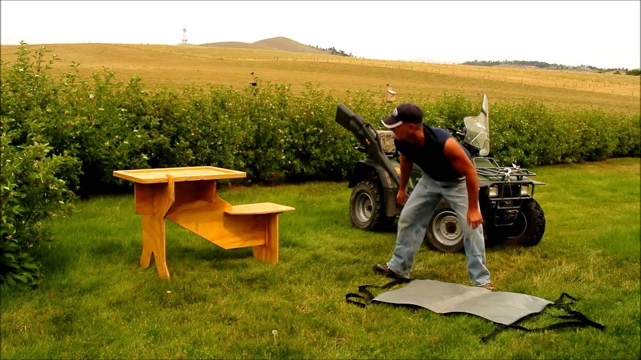... and Disassemble Your Sharpshooter Portable Shooting Bench - YouTube