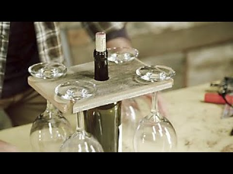 Diy Barnwood Wine Glass Holder Diy Network Youtube