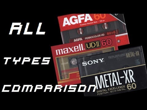 Compact Cassettes - All types comparison [No Dolby, B, C]