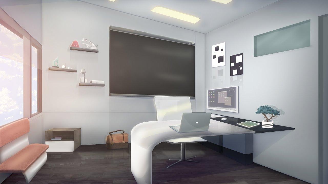 Amnesia Anime Wallpaper Visual Novel Background Speed Paint 01 Office Youtube