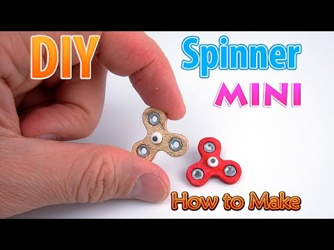 DIY Miniature Spinner fidget without bearings | DollHouse | No Polymer Clay!