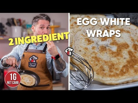 Low Carb Egg White Wraps In 2 Minutes