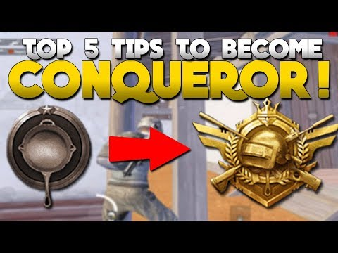 TOP 5 TIPS THAT MADE ME CONQUEROR | Pubg Mobile