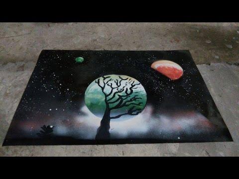 Spray Paint Art   Aerosolgrafia   Argentina   Planets
