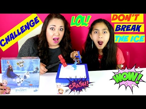 DON'T BREAK THE ICE CHALLENGE FROZEN GAME|B2cutecupcakes