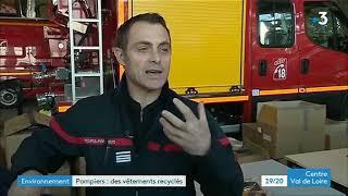 Recyclage des tenues au SDIS 36 -  France3
