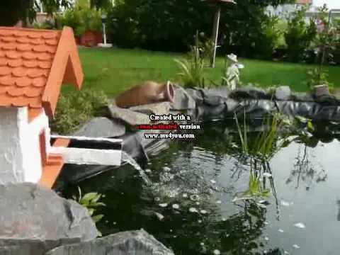 Teich mit bachlauf funnycat tv for Teichanlage selber bauen