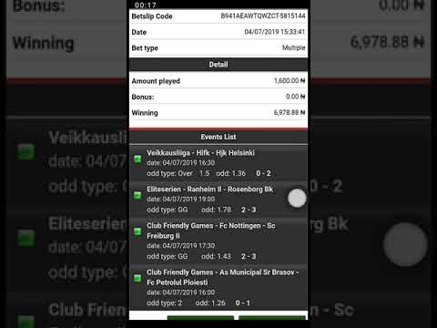 bet9ja betpawa betway 100% winning strategy 04/07/2019 - YouTube