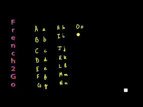 French Alphabet pronunciation Part 1