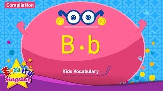 Kids vocabulary compilation - Words starting with B, b - English educational video