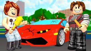 BREAKING EXPENSIVE CARS AT ROBLOX ft CRIS MINEGIRL (Car Crushers 2)
