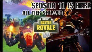 FORTNITE SEOSON 10 BATTLE PASS PURCHASED ALL TIER SHOWED🔥🔥