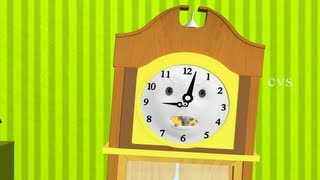 Hickory dickory Dock Nursery Rhyme - 3D Animation English Rhymes & Songs for children