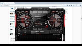 Как разогнать видеокарты AMD и NVIDIA с помощью утилиты MSI Afterburner