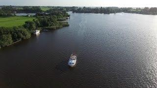 Varen in Friesland (Terhenster poelen) gefilmd met een Phantom 3 drone