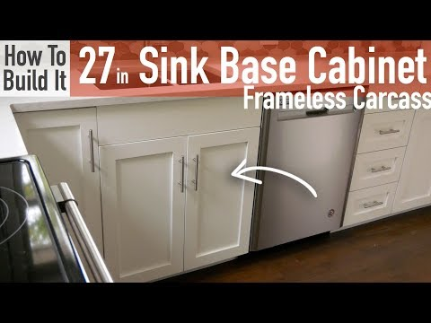Diy 27in Sink Base Cabinet Carcass Frameless Youtube