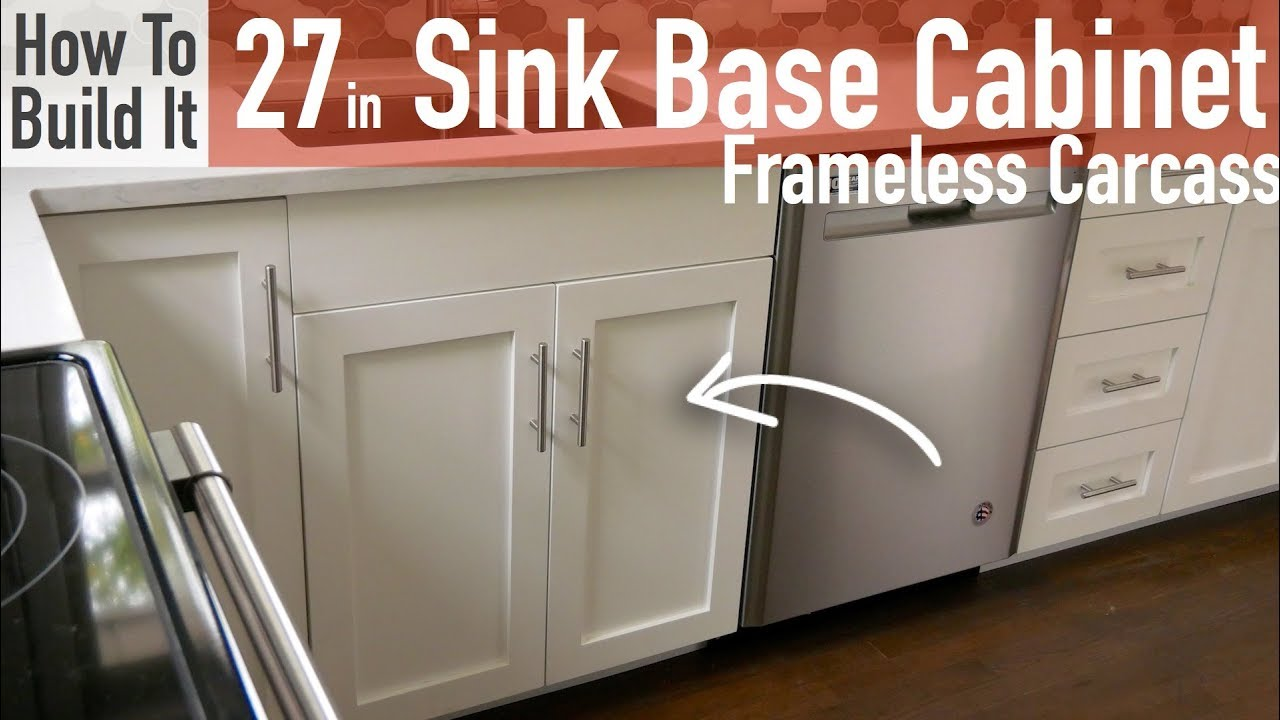 diy 27in sink base cabinet carcass frameless