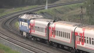 Пассажирский поезд на перегоне Вольск 2-Шиханы-Новая