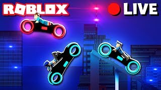 Jailbreak | TRON BIKE POLICE CHASE | Roblox Live