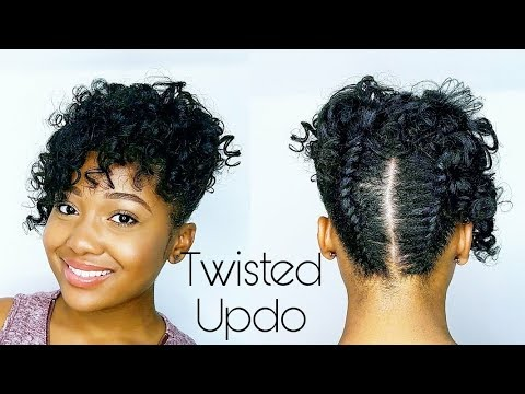 curly twisted pin updo relaxed