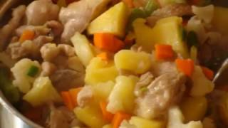 Обед для строителя Рагу с курицей грибами и овощами