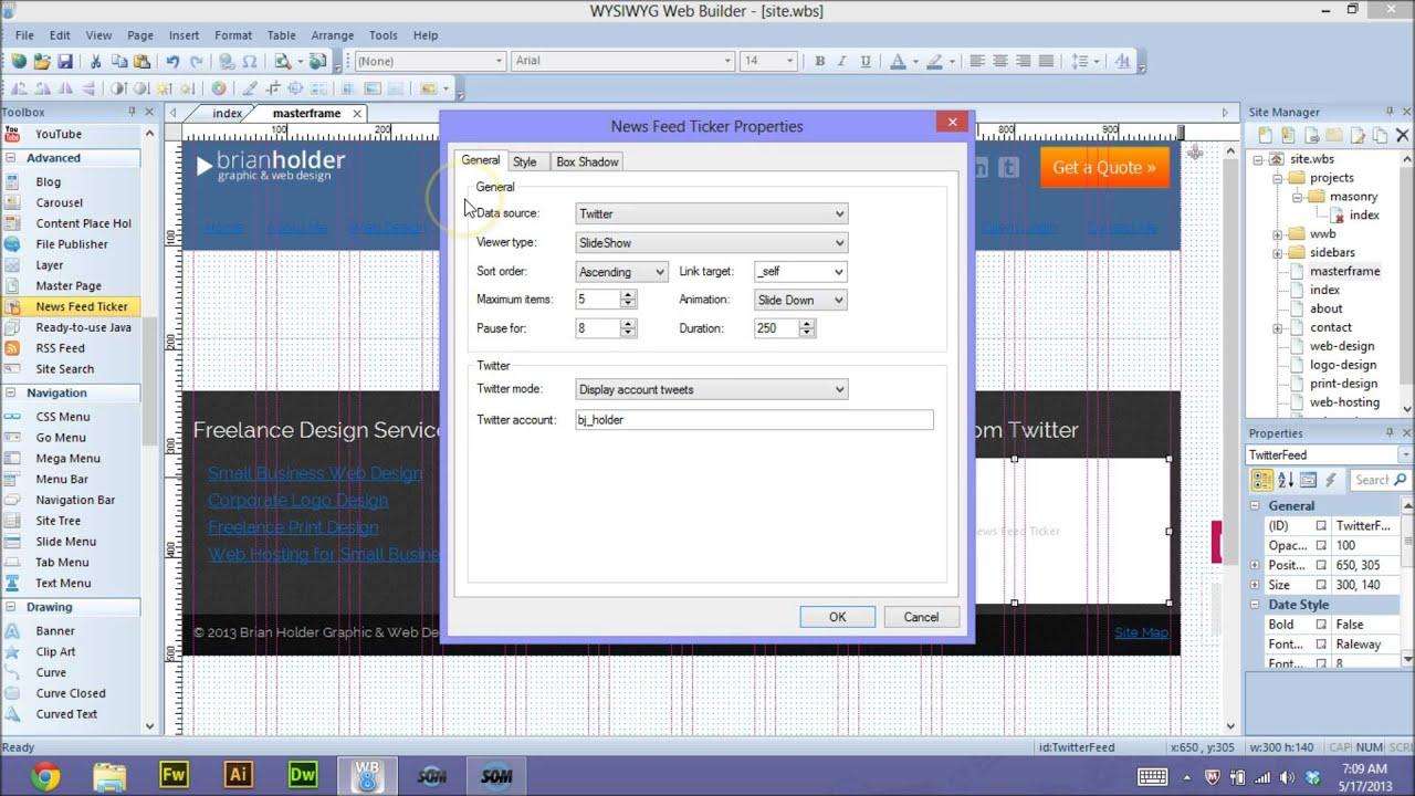 wysiwyg web builder portable