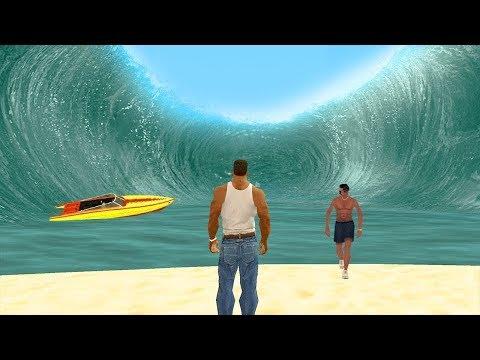 شاهد اخطر تسونامي (Tsunami) في تاريخ (GTA San Andreas) !! شيء لا يصدق !!