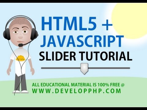 HTML5 Slider Tutorial Javascript Function Programming