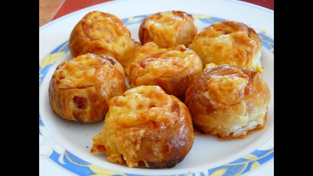 Cocina f cil saladitos de hojaldre rollitos de jam n y - Videos cocina facil ...