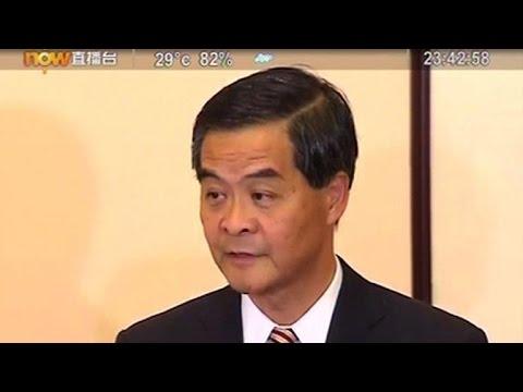 Hong Kong: le chef de l'exécutif refuse de démissionner
