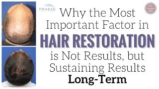 Why the Most Important Thing in Hair Restoration is Not Results, but Sustaining Results Long-Term   Amiya Prasad, M.D.