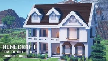 마인크래프트 건축 강좌 : 발코니가 있는 2층 주택 l 단독주택 1 🏡