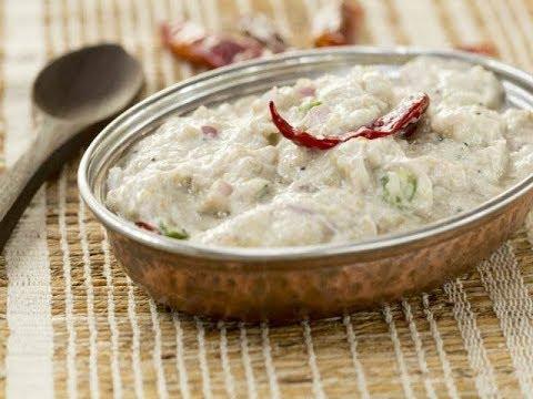 Brinjal Chutney with Curds (ब्रिंजल चटणी विथ कर्ड)