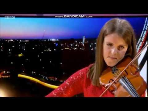 BBC Spotlight - BBC Weather Presenter Alex Osbourne Plays The Violin To Our BBC News Theme (24.4.20)