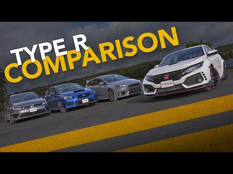 Honda Civic Type R vs. Ford Focus RS vs Subaru WRX STI vs. VW Golf R Sport Compact Comparison