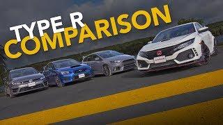 Sport Compact Comparison: Civic Type R Vs. Wrx Sti Vs. Golf R Vs. Focus Rs