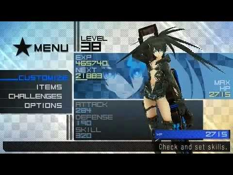 black rock shooter psp cheats