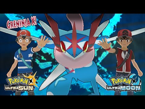 Pokemon Ultra Sun and Ultra Moon: Ash and Champion Ash Vs Dark Ash and Dark Hero (Greninja X)