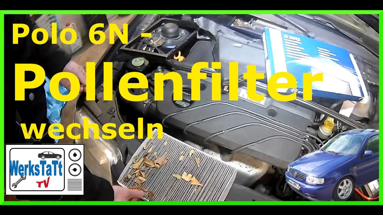 vw polo 6n pollenfilter wechseln replace cabin airfilter. Black Bedroom Furniture Sets. Home Design Ideas