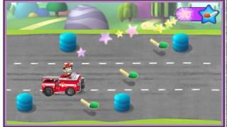 веселые гонки игра щенячий патруль пожарная машина