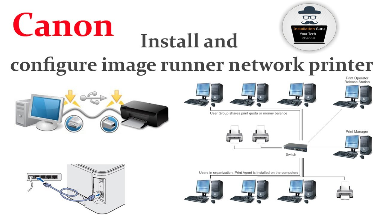 How to install Canon IR2525 Printer driver and configure On Network