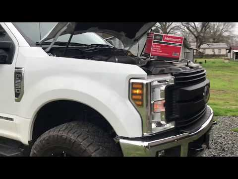 2017, 2018, 2019, 2020 Ford power stroke 6.7 F250 air filter change.