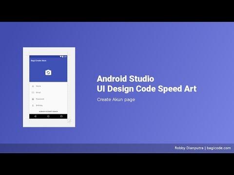 Create Akun Page   Android Studio UI Design XML Speed Art