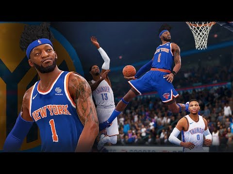 NBA Live 19 The One Career | WING DEFENDER DUNK GAWD JUMPS OVER RUSSEL WESTBROOK!