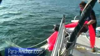 Sea-Anchor for CATAMARAN --- RETRIEVAL Training for Storm Survival